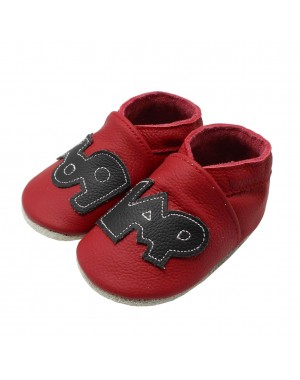 Yalion® genuine leather Baby Shoes Soft Soles Graffiti Red