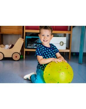 Yalion® Baby Krabbelschuhe Lederpuschen Lauflernschuhe Kinderhausschuhe Schwarz Einfarbig