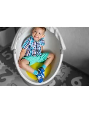 Yalion® Baby Krabbelschuhe Lederpuschen Lauflernschuhe Kinderhausschuhe Blau Einfarbig