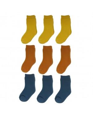 Yalion® 9 Pairs of Baby socks children half-plush warm sole