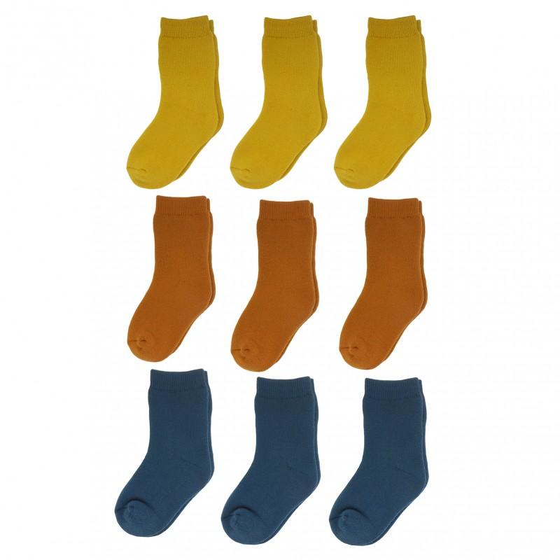 Yalion® 9 Pairs of baby socks children full plush warm sole