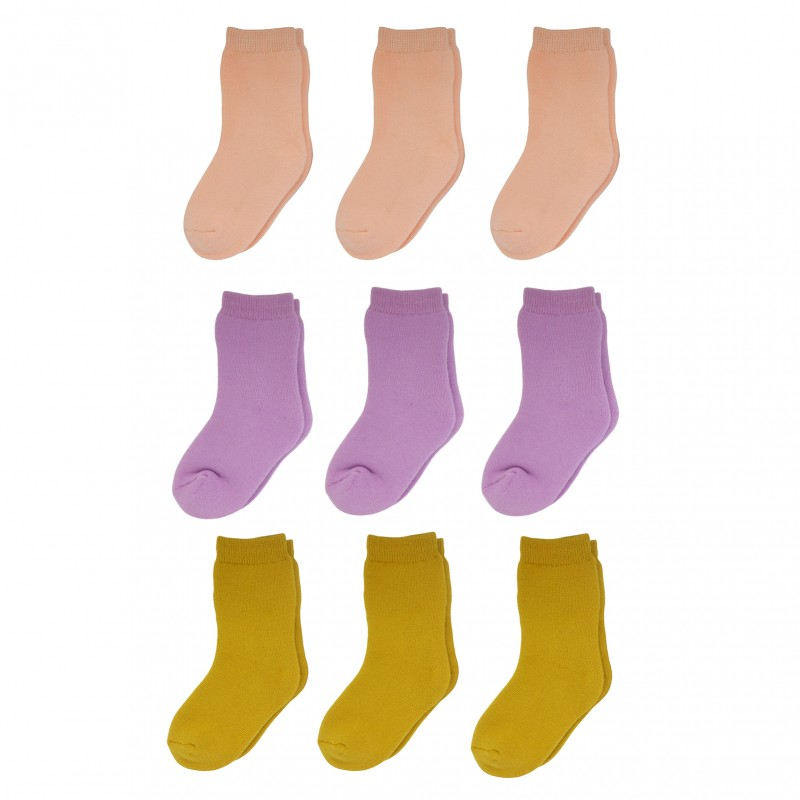 Yalion® 9 Pairs of baby socks Children full plush full terry warm sole socks