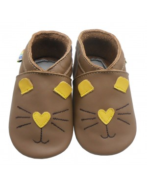 Yalion® Baby genuine leather Shoes Soft Soles Cat Face