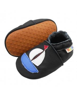 Yalion® Baby Krabbelschuhe Lederpuschen Lauflernschuhe Turnschuhe Weiße Schiff
