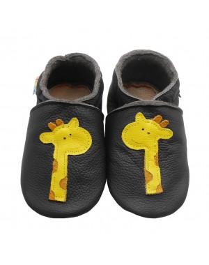 Yalion® Baby Krabbelschuhe Lederpuschen Lauflernschuhe Turnschuhe Gelbe Giraffe