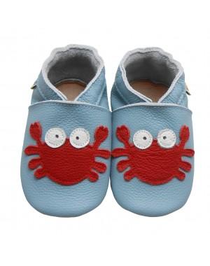 Yalion® Baby Krabbelschuhe Lederpuschen Lauflernschuhe Turnschuhe Rote Krabbe