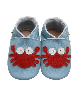 Yalion® genuine leather Baby Shoes Soft Soles Leather Sneaker Red Crab