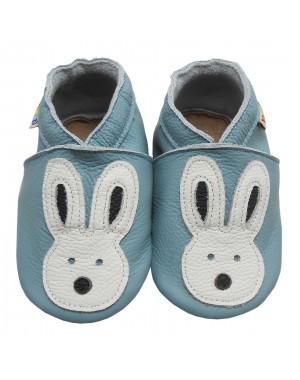Yalion® Baby Krabbelschuhe Lederpuschen Lauflernschuhe Turnschuhe Weiße Kaninchen