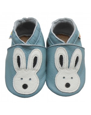 Yalion® genuine leather Baby Shoes Soft Soles Leather Sneaker White Rabbit