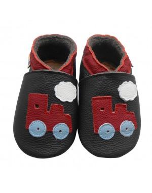 Yalion® Baby Krabbelschuhe Lederpuschen Lauflernschuhe Turnschuhe Rote Eisenbahn