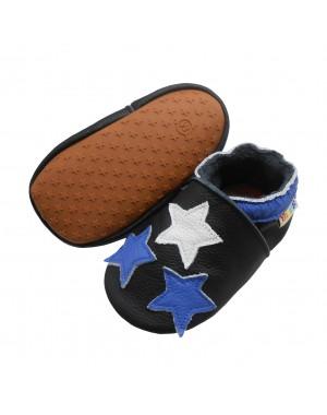 Yalion® Baby Krabbelschuhe Lederpuschen Lauflernschuhe Turnschuhe Drei Sterne