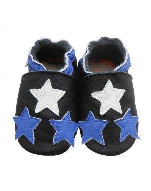 Yalion® genuine leather Baby Shoes Soft Soles Leather Sneaker Three Stars