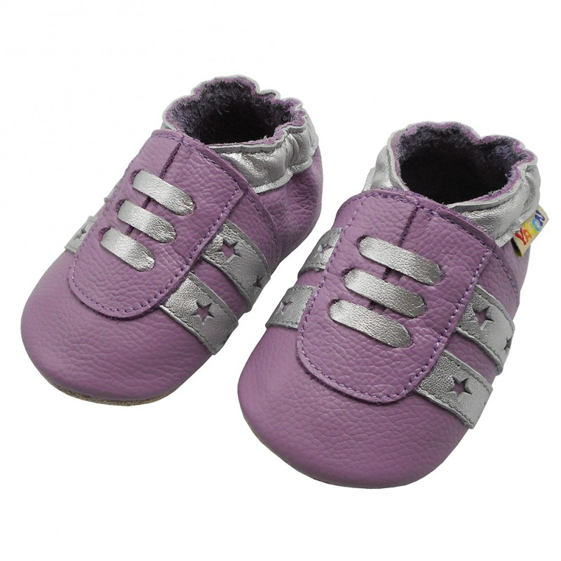 Yalion genuine leather Baby Shoes Soft Sole Leather Sneaker Pink