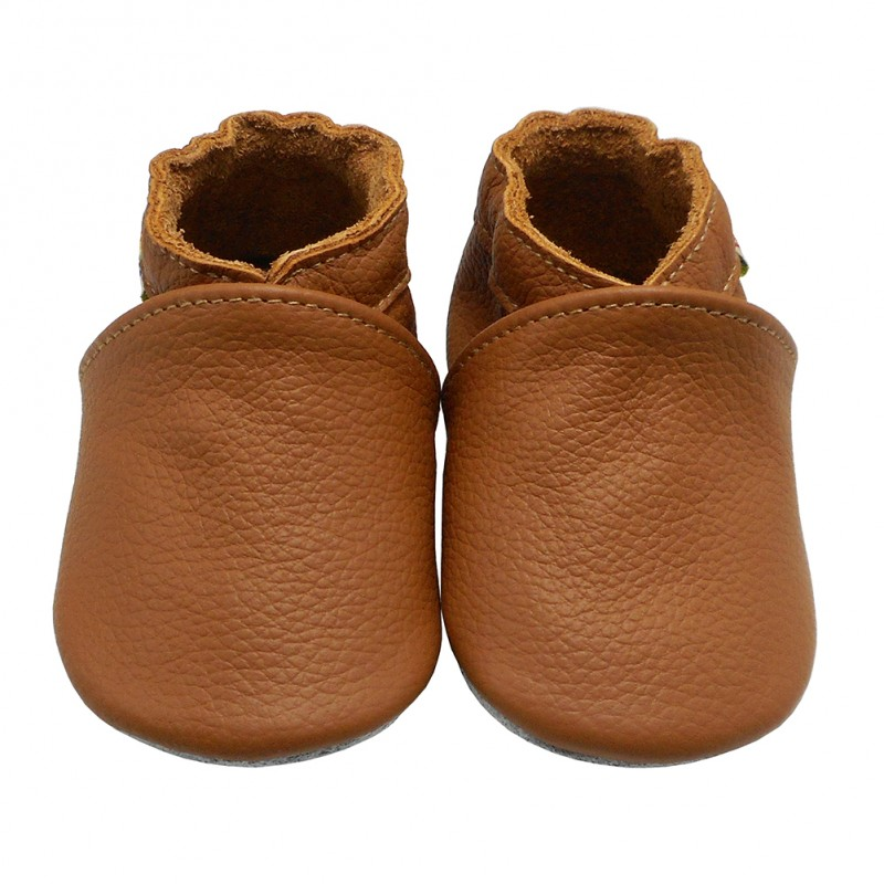 Yalion® Baby Shoes Soft Soles Light Brown