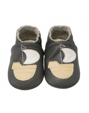 Yalion® Baby Shoes Soft Soles Sailing Boat