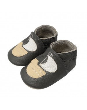 Yalion® Baby genuine leather Shoes Soft Soles Sailing Boat