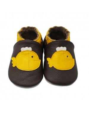 Yalion® Baby Shoes Soft Soles Yellow Fish