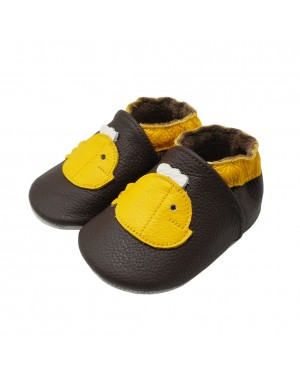 Yalion® Baby genuine leather Shoes Soft Soles Yellow Fish