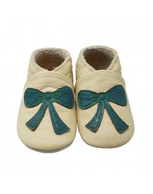 Yalion® Baby Shoes Soft Soles Green Tie