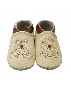 Yalion® genuine leather Baby Shoes Soft Soles Bear