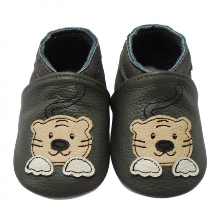 Yalion® genuine leather Baby Shoes Soft Soles Tiger