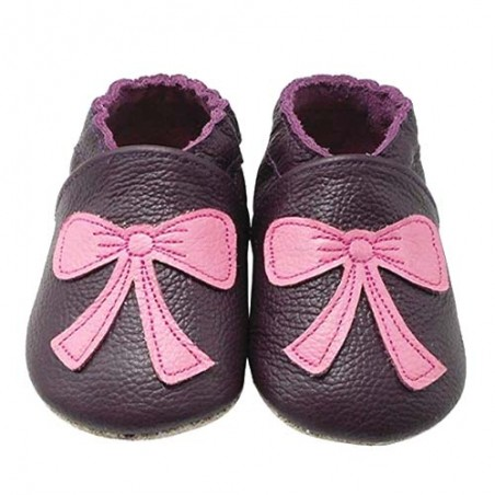 Yalion® Baby Shoes Soft Soles Pink Bow Tie