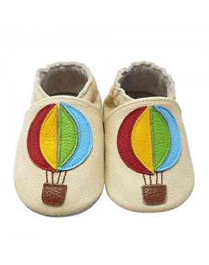 Yalion® Baby genuine leather Shoes Soft Soles Ballons Beige