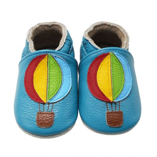 Yalion® Baby genuine leather Shoes Soft Soles Ballons Blue