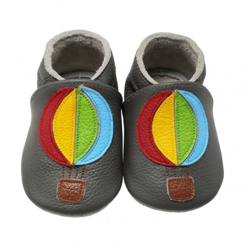 Yalion® Baby genuine leather Shoes Soft Soles Ballons Brown