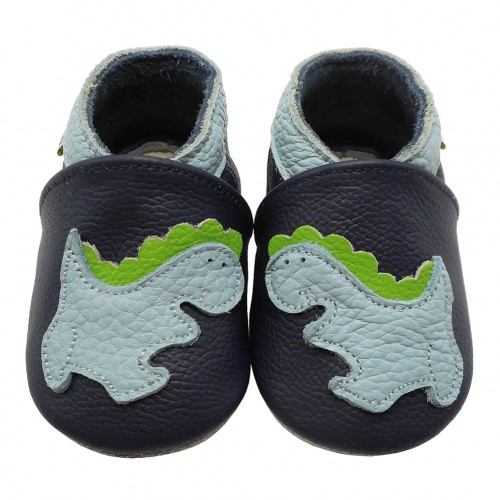 Yalion® Baby Shoes Soft Soles Dinosaurier Dark Blue