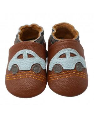 Yalion® Baby Lauflernschuhe Auto Braun
