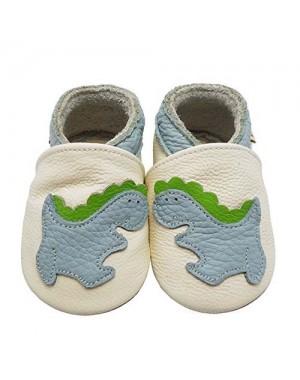 Yalion® Baby Krabbelschuhe Lauflernschuhe Dinosaurier Weiß