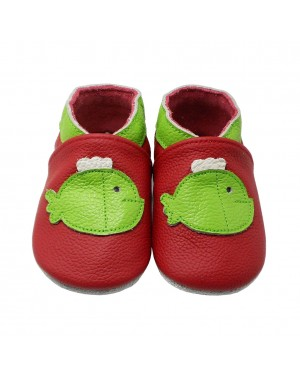 Yalion® Baby Shoes Soft Soles Green Fish