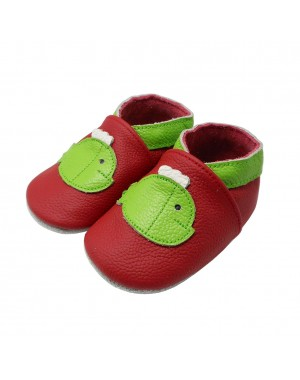 Yalion® Baby genuine leather Shoes Soft Soles Green Fish